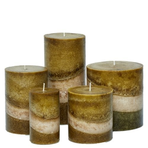 forest blend pillar candles