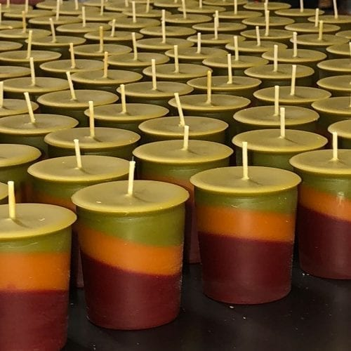 amish harvest votive candles