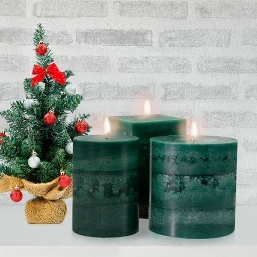 evergreen scented candles