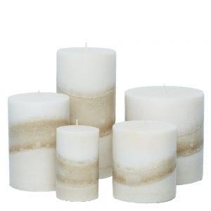gardenia pillar candles