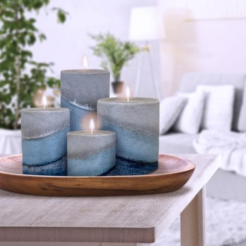 indigo mist ocean scented candles