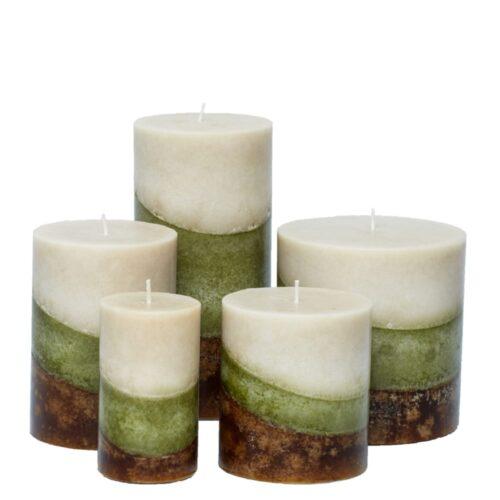 linen crisp pillar candles