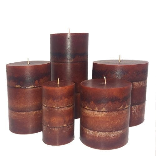 macintosh apple pillar candles