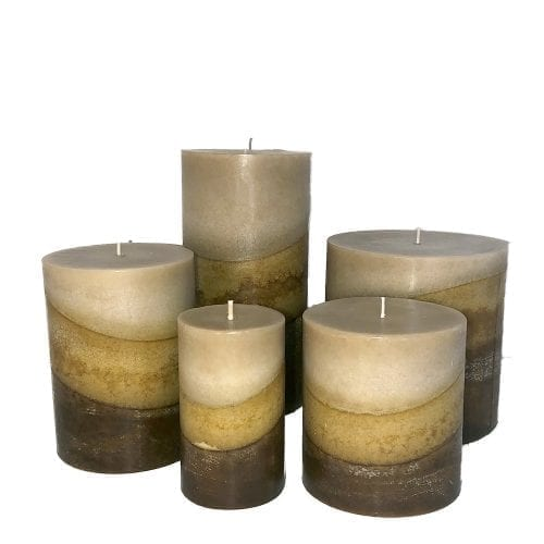 satin sheets pillar candles