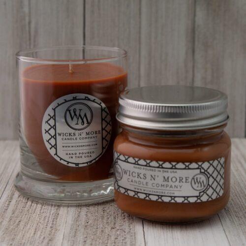 spiced cider jar candles